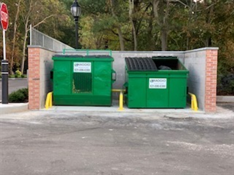 THE DUMPSTER GUARD - EXPANDABLE 2, DUNKIN' DONUTS, Portion Road, Ronkonkoma, New York.