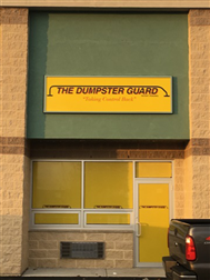 "<span style='color: #ff0000; font-size: 20px;'><em><strong>THE DUMPSTER GUARD<span style=""font-size: 14px;"">®</span></strong></em></span>